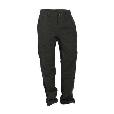 Men's 32 in. x 44 in. Black Cotton and Polyester Ripstop Cargo Pant