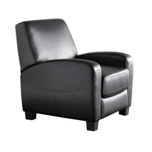 Marina Black Faux Leather Recliner