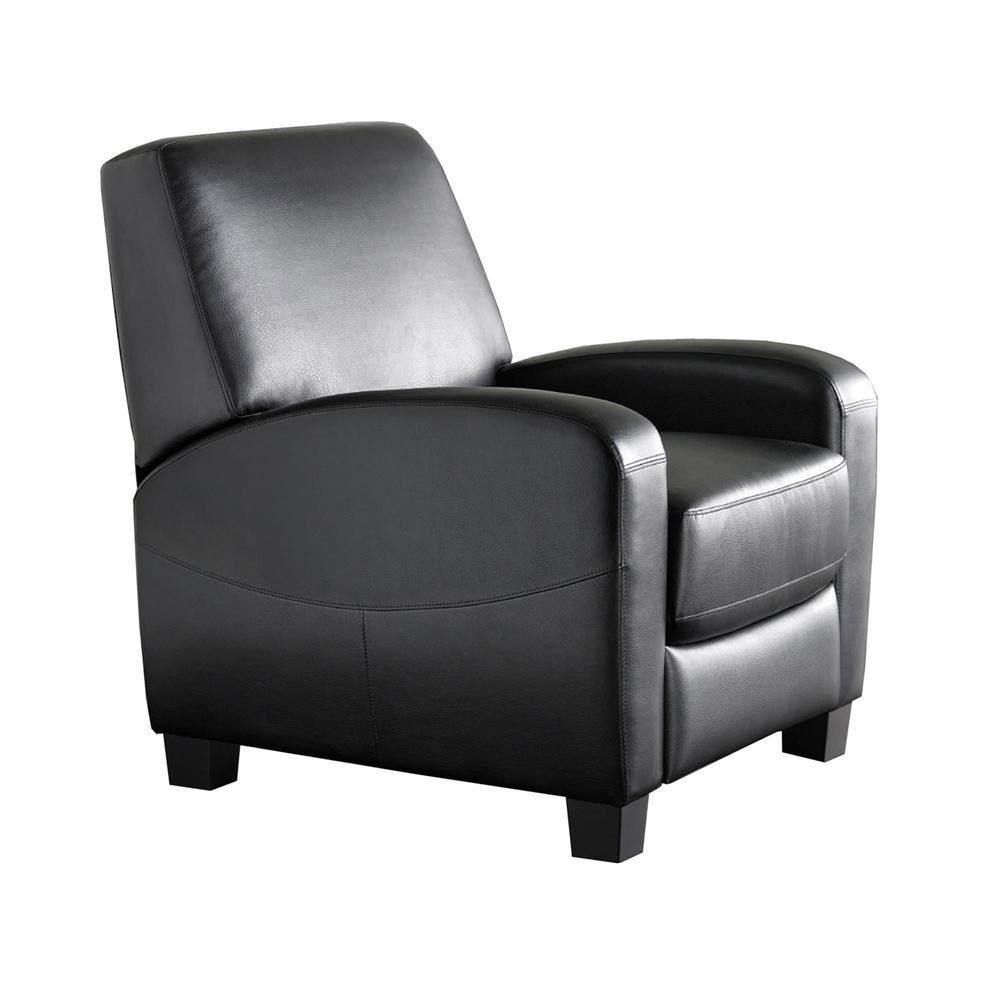 Dorel Living Marina Black Faux Leather Recliner FH3350R