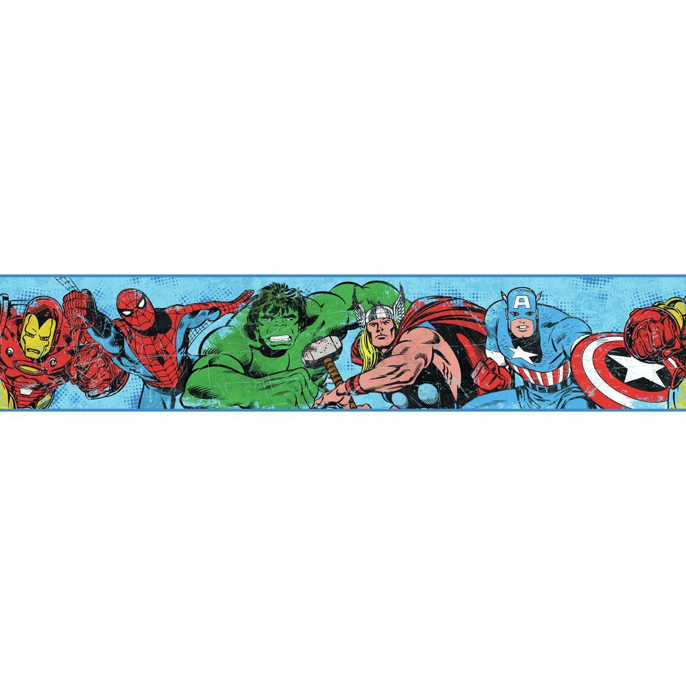 York Wallcoverings Disney Kids Iii Marvel Avengers Border Dy0241bd