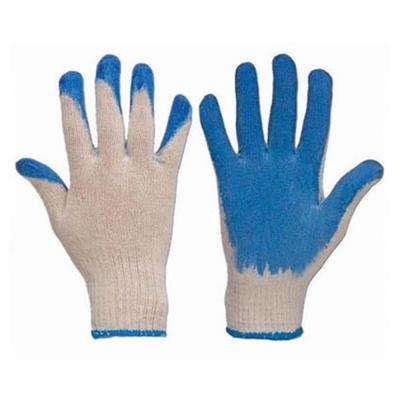 Heavy Duty Blue Latex Grip Palm Cotton Gloves (100-Pack)