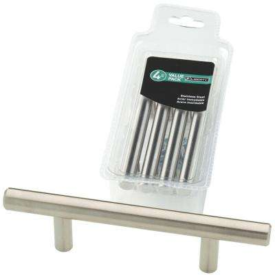 3 in. (76mm) Stainless Steel Bar Drawer Pull (4-Pack)