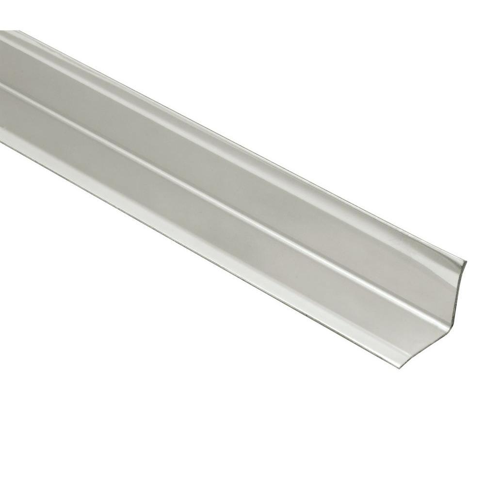 Schluter ECK-KI Brushed Stainless Steel 9/16 in. x 8 ft. 2-1/2 in. Metal Corner Tile Edging Trim