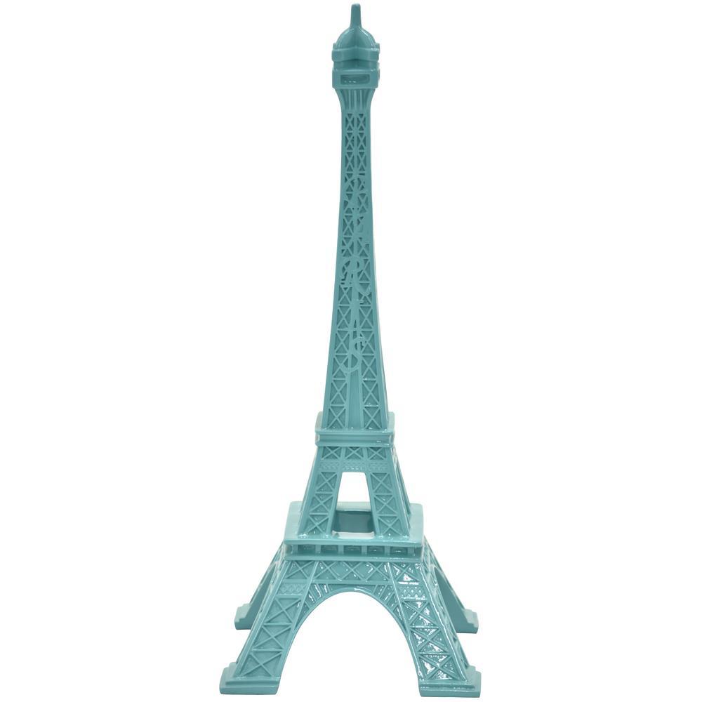 14.5 in. Eiffel Tower Tabletop in Blue