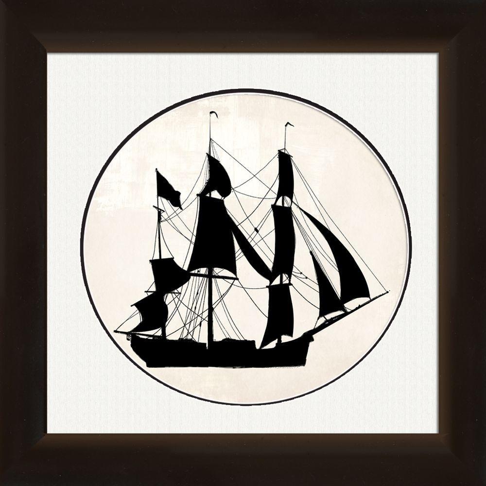 """18 in. x 20 in. """"Ship"""" Framed Wall Art"""