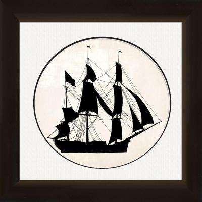 "18 in. x 20 in. ""Ship"" Framed Wall Art"