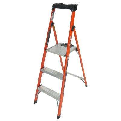 Quick-N-Lite 5 ft. Fiberglass Step Ladder Type I 250 lbs. Rated