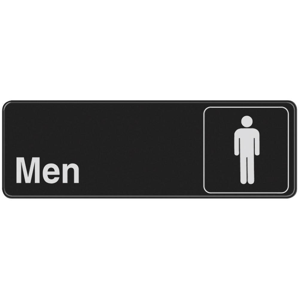 3 in. x 9 in. Men's Restroom Sign