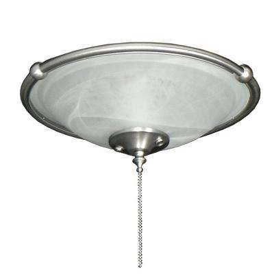173 Ringed Bowl Satin Steel Ceiling Fan Light