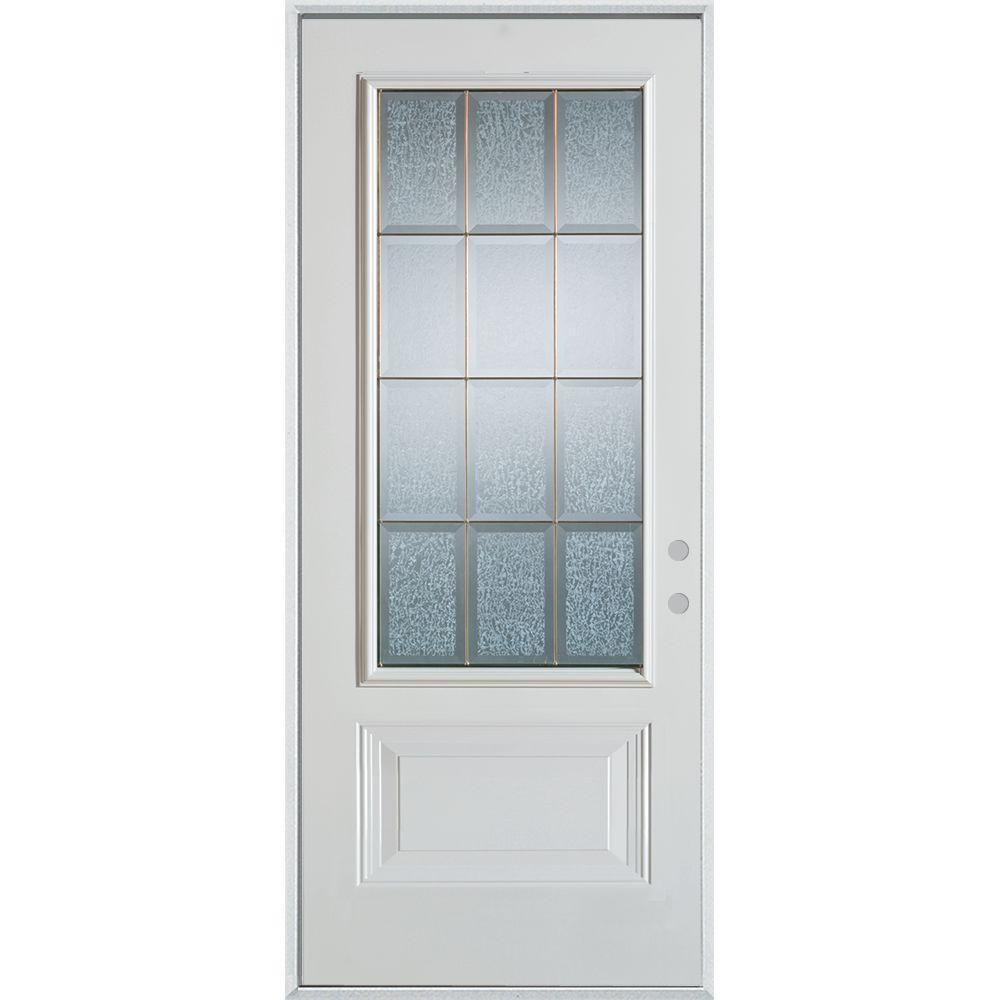 Stanley Doors 32 In X 80 In Geometric Clear And Zinc 34 Lite 1