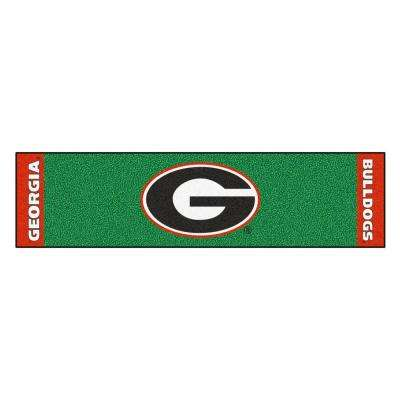 NCAA University of Georgia 1 ft. 6 in. x 6 ft. Indoor 1-Hole Golf Practice Putting Green