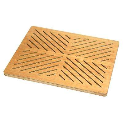 Natural 17.75 in. x 23.75 in. Bamboo Floor and Bath Mat