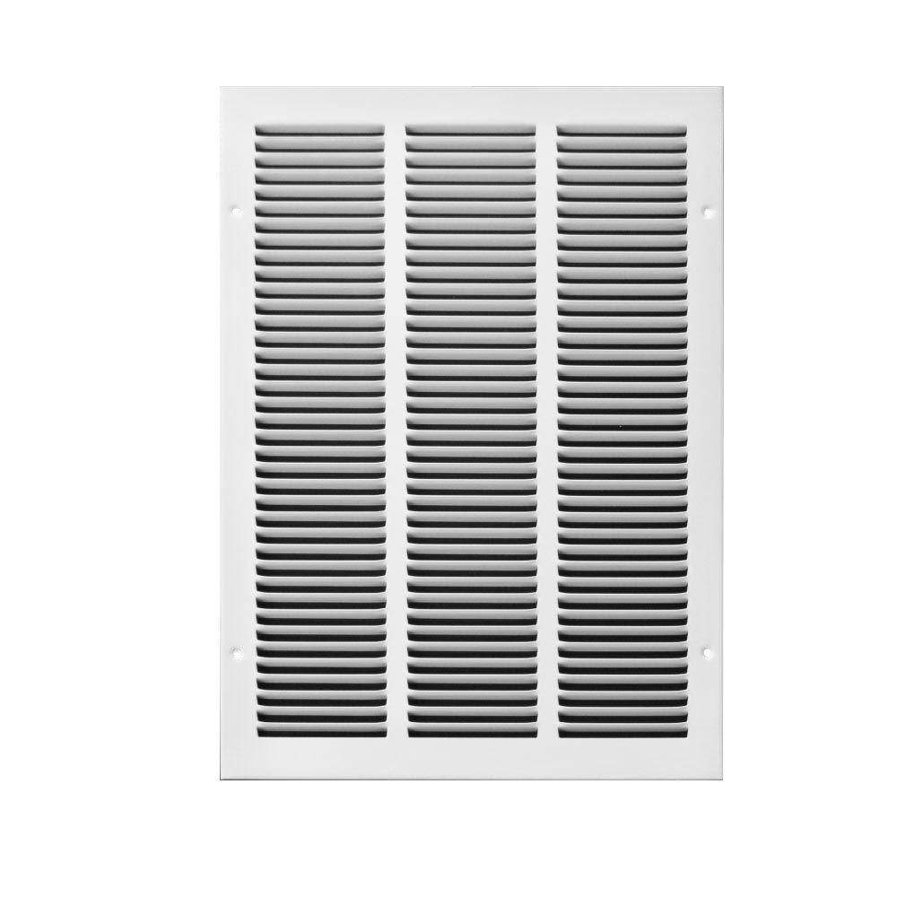 TRUAIRE 20 in. x 25 in. Steel Return Air Grille, Whites