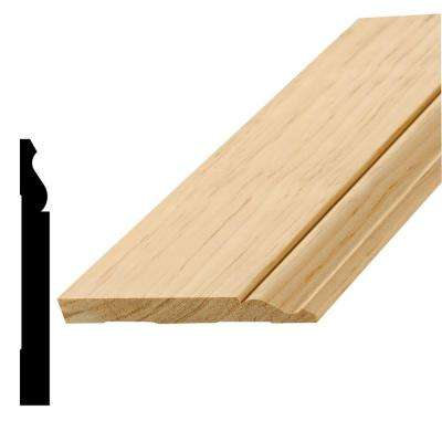 L 163E 9/16 in. x 5-1/4 in. x 96 in. Pine Base Moulding