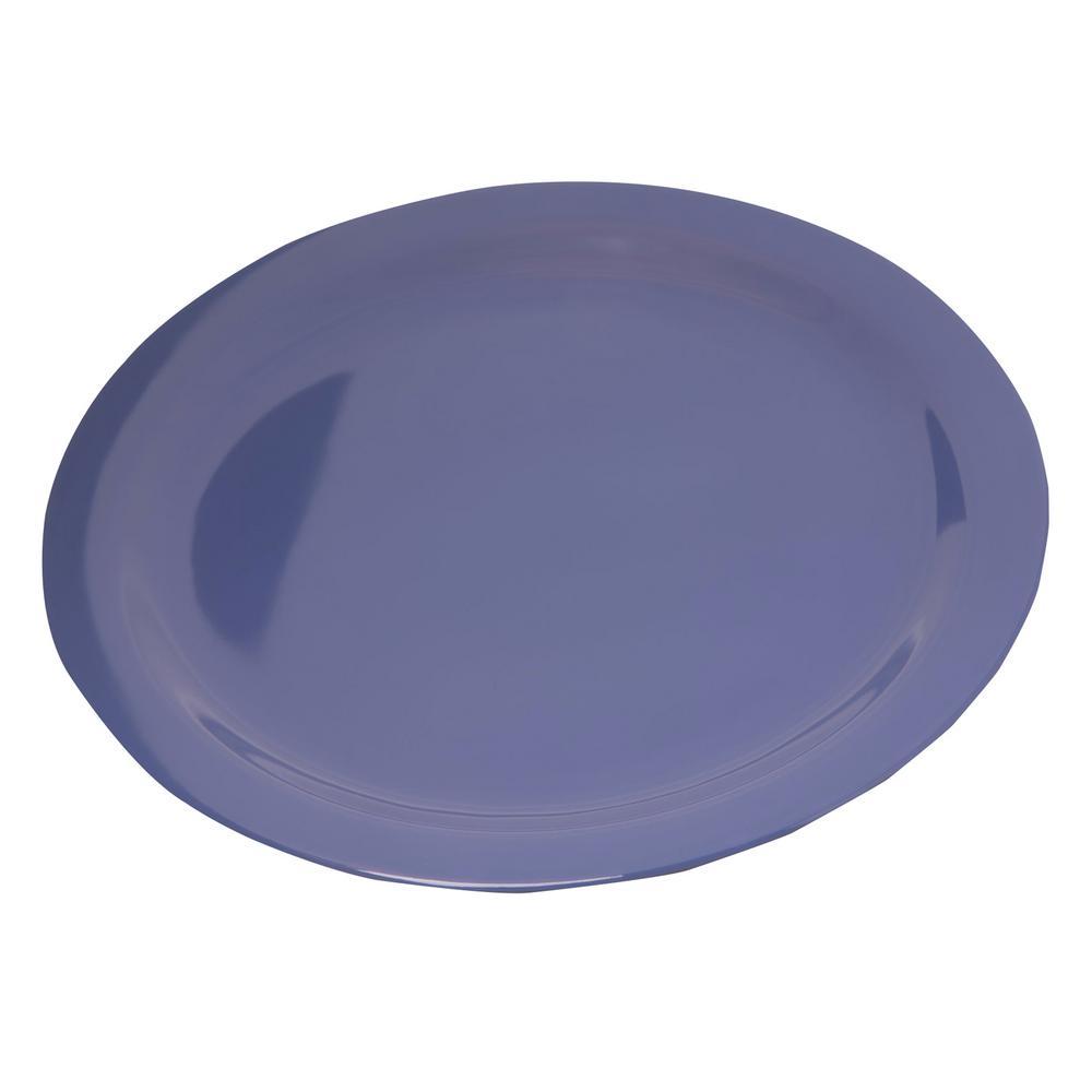 Carlisle Dallas Ware 10.25 in. Ocean Blue Melamine Dinner Plate (48-Pack)