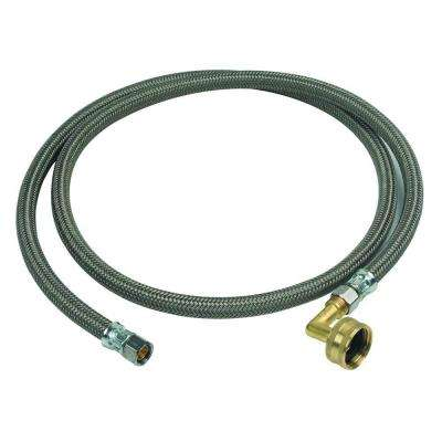 3/8 in. Compression x 3/8 in. Compression x 60 in. Braided Polymer Dishwasher Connector with 3/4 in. Garden Hose Elbow