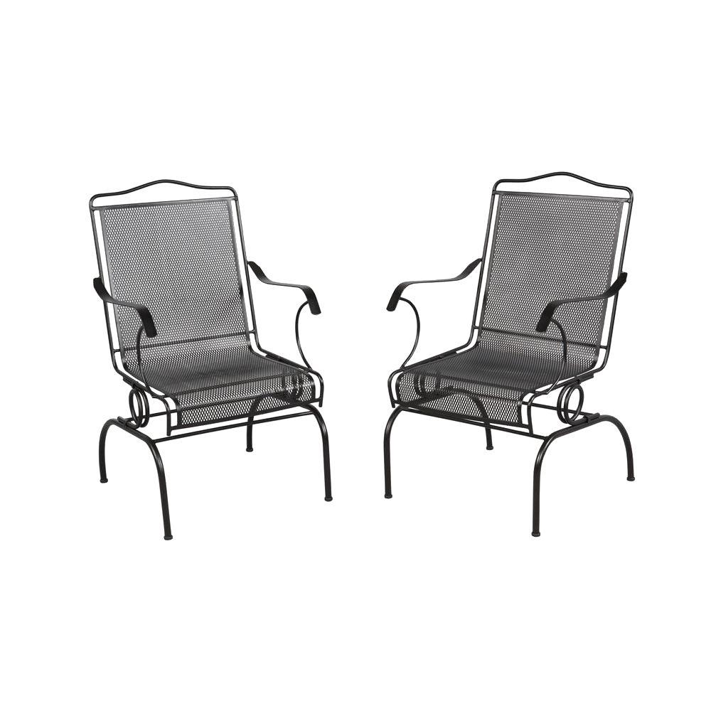 Hampton bay jackson action patio chairs 2 pack 7891700 for Terrace chairs