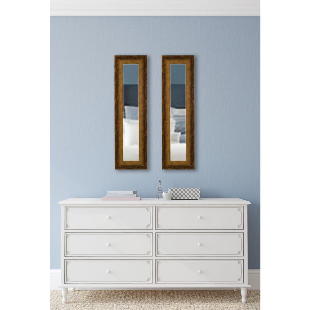 29.5 in. x 15.5 in. Tarnished Bronze Vanity Mirror (Set of 2-Panels)