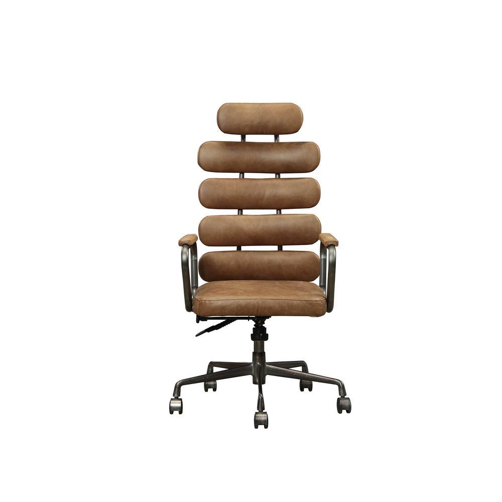 Calan Retro Brown Top Grain Leather Executive Office Chair