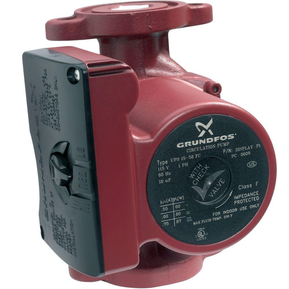 Grundfos 1/25 HP 115-Volt 3-Speed Circulator Pump
