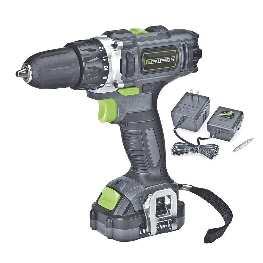 Genesis 12-Volt Lithium-Ion 3/8 in. Cordless 2-Speed Drill/Driver