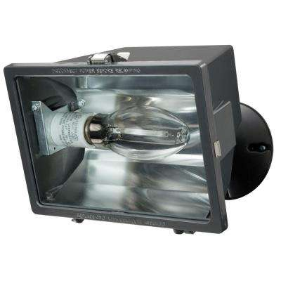 7 in 1-Lamp Bronze Metal Outdoor Halide Flood Light
