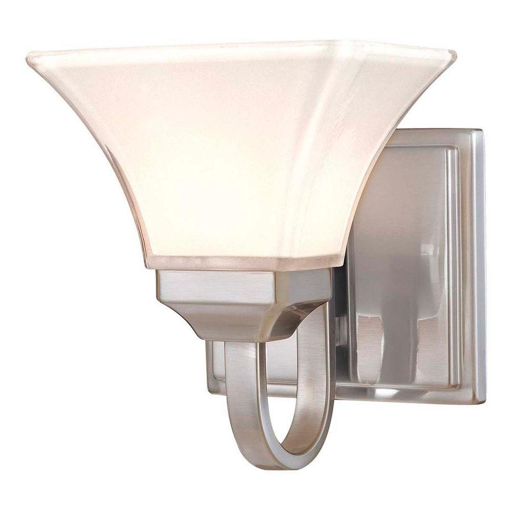 Agilis 1-Light Brushed Nickel Bath Light