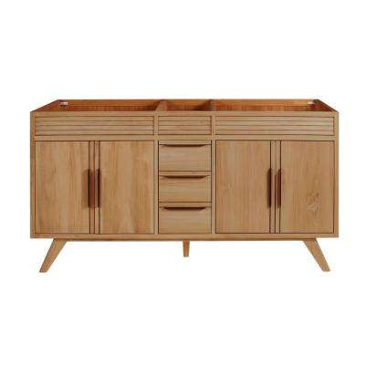 Taylor 60 in. W x 21 in. D Bath Vanity Cabinet Only in Natural Teak