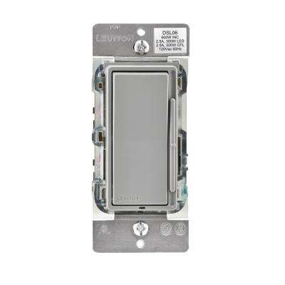 Decora 600-Watt Single-Pole/3-Way Universal Rocker Slide Dimmer, Gray