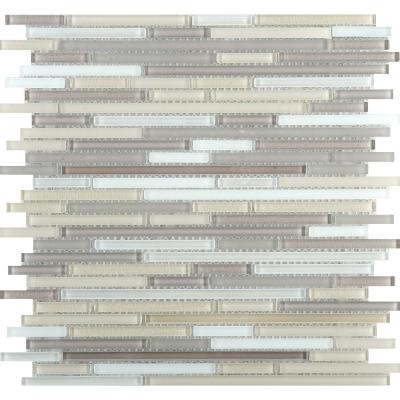 Infinity Aeon Glossy 11.73 in. x 11.73 in. x 4mm Glass Mesh-Mounted Mosaic Tile (0.96 sq. ft.)