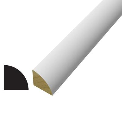 WM 105 3/4 in. x 3/4 in. x 96 in. Poplar Wood Primed Finger-Jointed Quarter Round Moulding