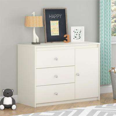 Elements 3-Drawer White Chest
