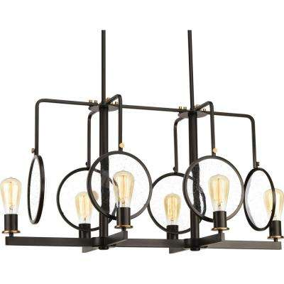 Looking Glass Collection 6-Light Antique Bronze Chandelier
