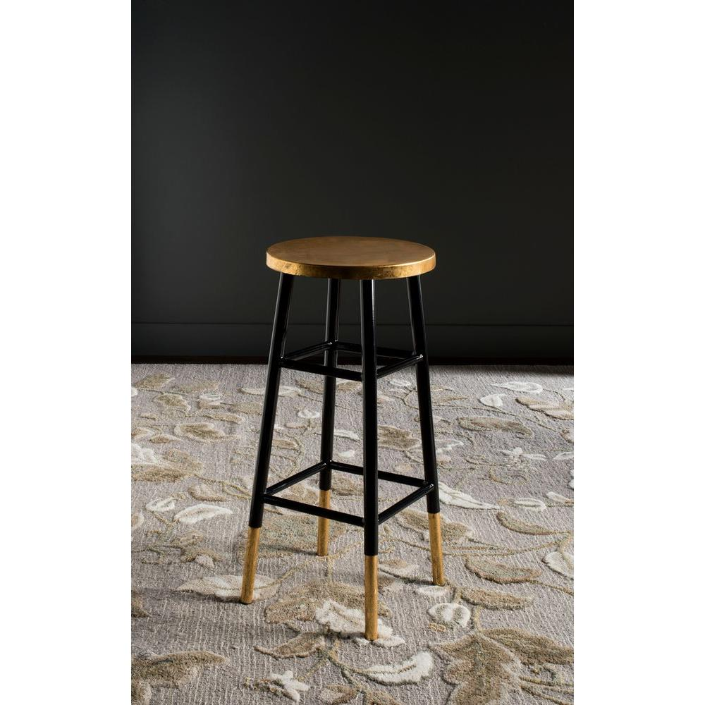 black and gold bar stool. safavieh emery  in black and gold bar stoolfoxc  the home