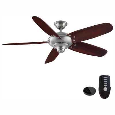 Altura 56 in. Brushed Nickel Ceiling Fan Works with Google Assistant and Alexa
