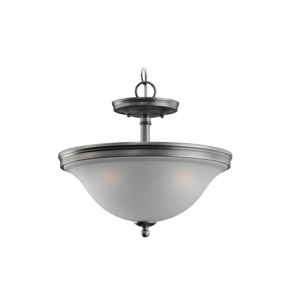 Sea Gull Lighting Gladstone 3-Light Antique Brushed Nickel Semi-Flush Mount Light