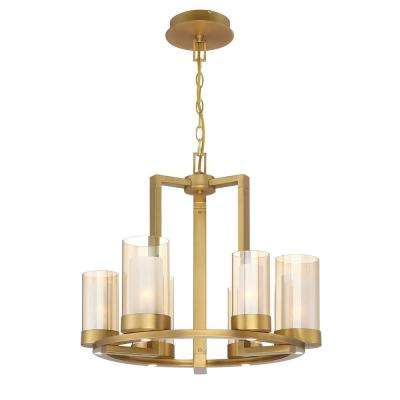 Samantha 60-Watt 6-Light LED Brass Chandelier