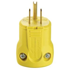 Eaton 15 Amp 125-Volt Heavy Duty Grade Quick Grip Plug, Yellow by Eaton