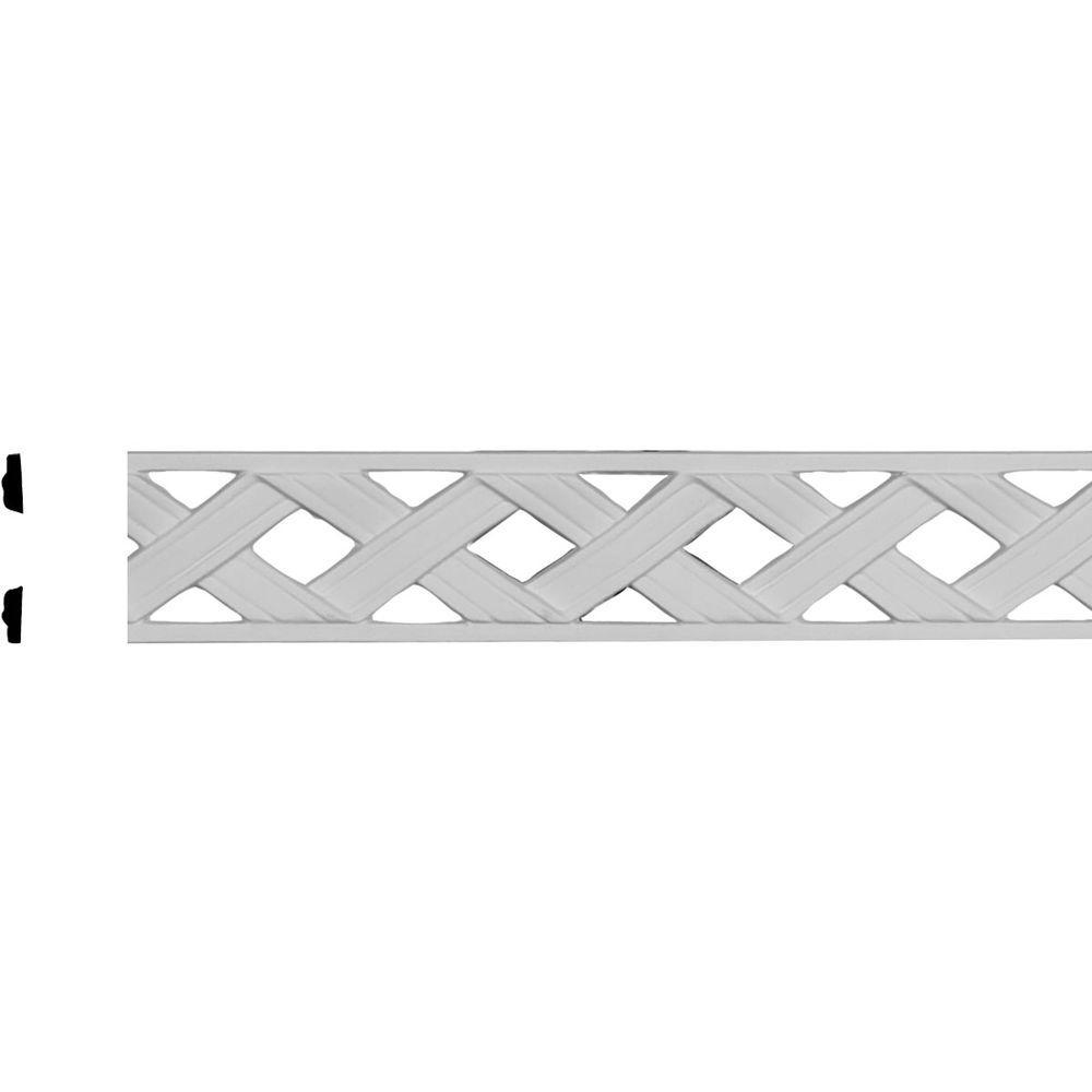 2-1/8 in. x 1/4 in. x 78-7/8 in. Polyurethane Ribbon Pierced Panel Moulding