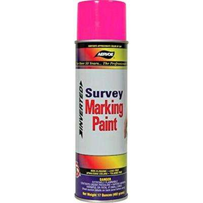 17 oz. Fluorescent Pink Inverted Survey Marking Spray Paint (12-Pack)