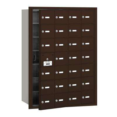 Bronze USPS Access Front Loading 4B Plus Horizontal Mailbox with 28A Doors (27 Usable)
