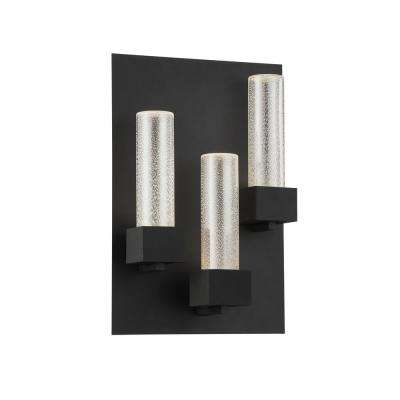 Solato 3-Light Black Integrated LED Outdoor Wall Sconce