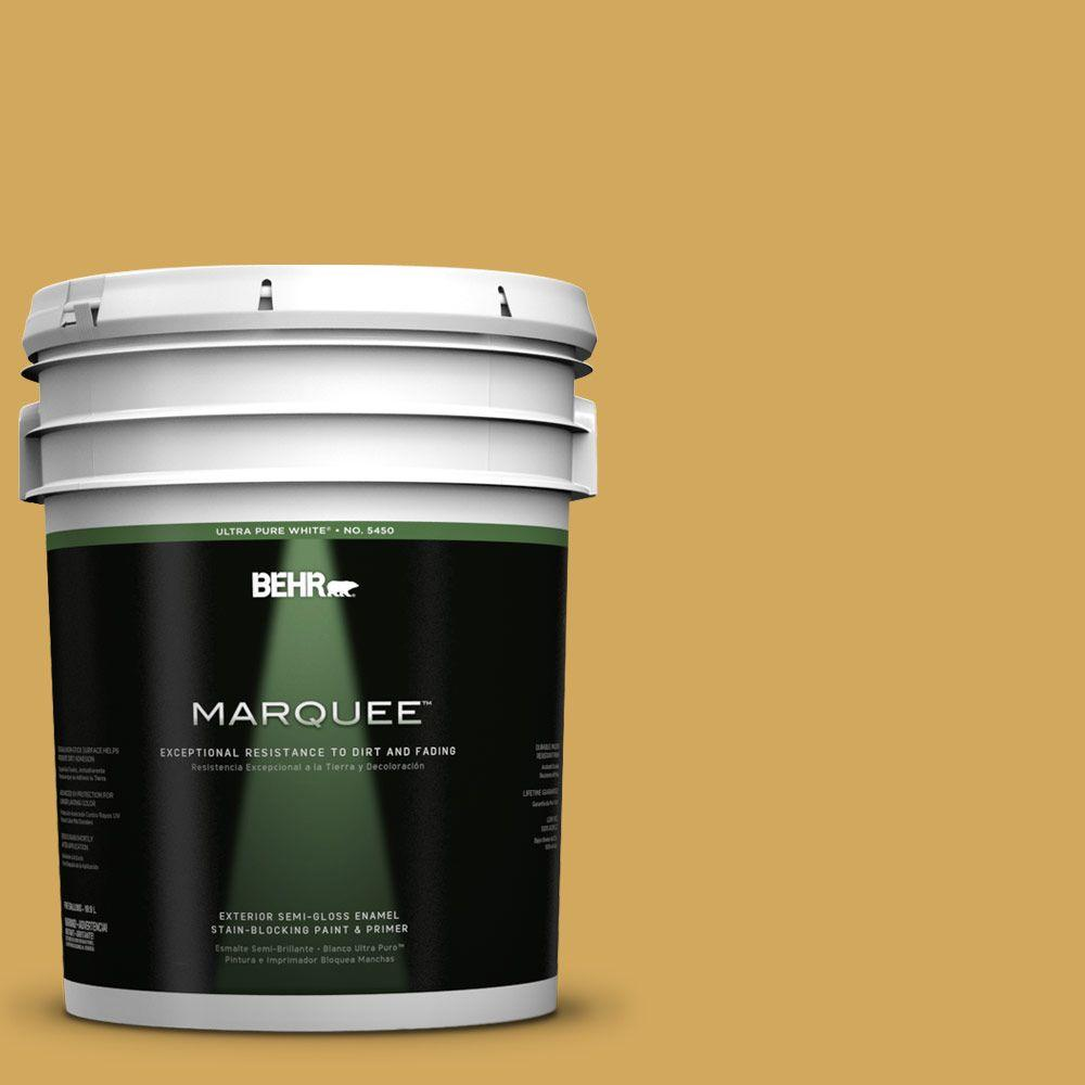BEHR MARQUEE 5-gal. #350D-5 French Pale Gold Semi-Gloss Enamel Exterior Paint
