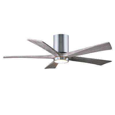 Irene 52 in. LED Indoor/Outdoor Damp Polished Chrome Ceiling Fan with Light with Remote Control and Wall Control