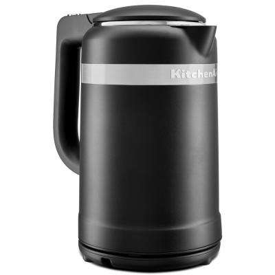 6.3-Cup Black Matte Electric Kettle with Dual Wall Insulation