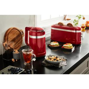 2 Slice Red Long Slot Toaster With High Lift Lever