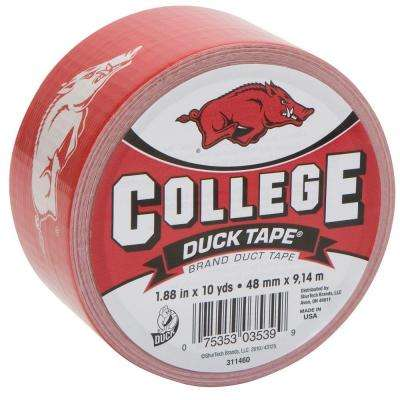 College 1-7/8 in. x 30 ft. University of Arkansas Duct Tape (6-Pack)