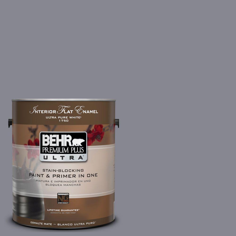 BEHR Premium Plus Ultra 1-gal. #UL240-6 Gray Heather Interior Flat Enamel Paint