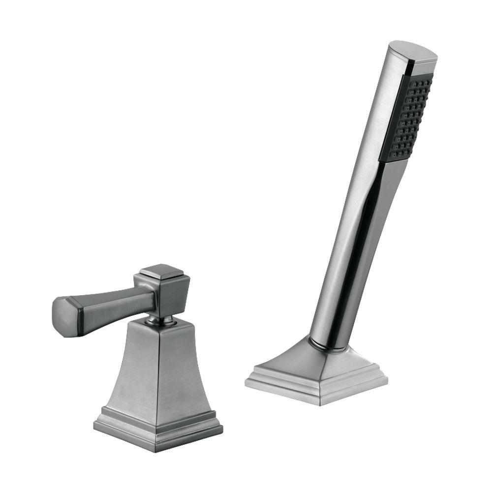 Torino 1-Handle Roman Tub Pull-Out Sprayer Kit in Satin Nickel