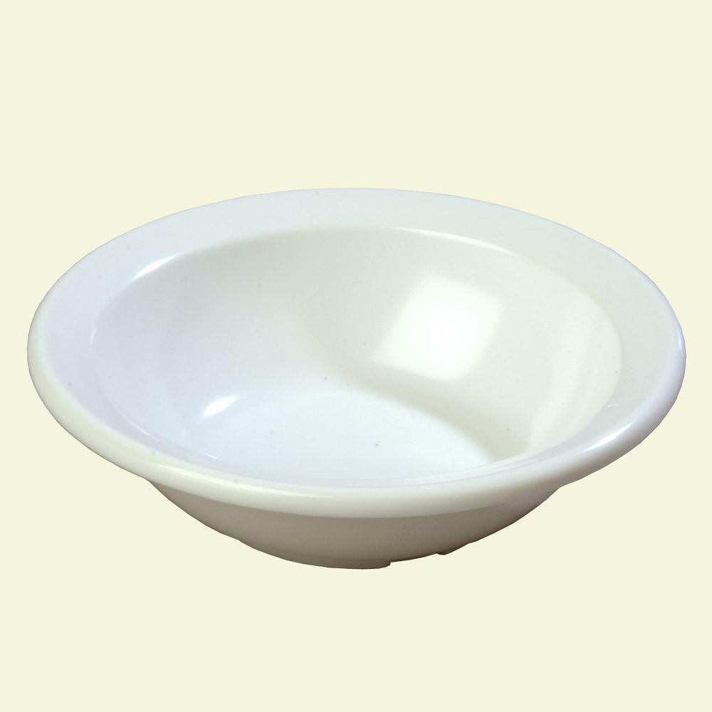 4.4 oz., 4.60 in. Diameter Rimmed Fruit Bowl in White (Case